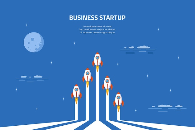 Business startup concept banner