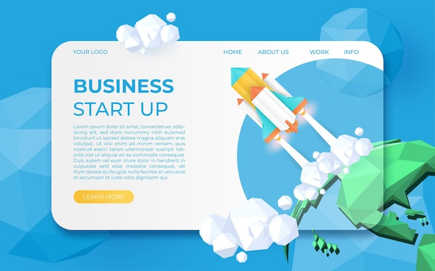 Business startup,discover, time management, idea, vision, strategy, online marketing concept web header template.