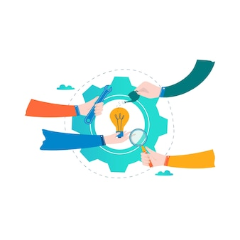 Business startup idea, project, business team