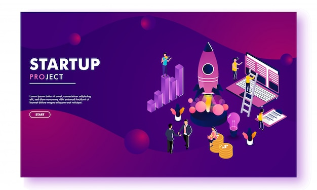 Business startup responsive landing page