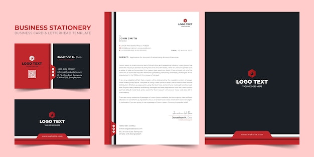 Business stationery branding template