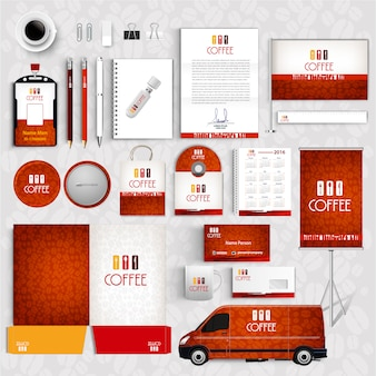 Business stationery collection