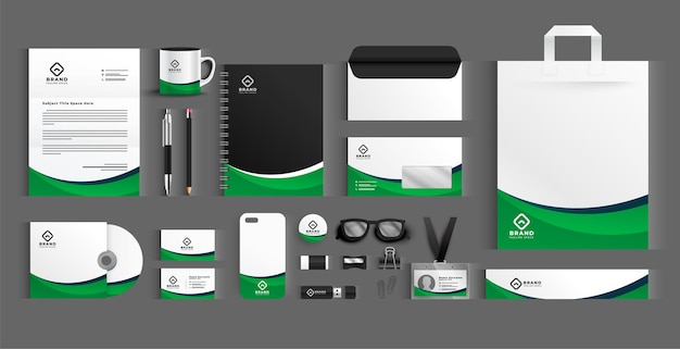Business stationery professional big set