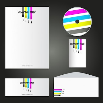 Business stationery with paint rollers design