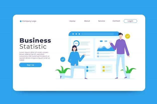 ビジネス統計ランディングページテンプレート