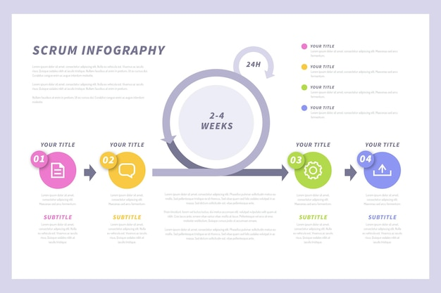 Business stats scrum infographic template