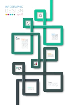 Business step options and abstract infographic