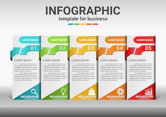 成功へのビジネスステップインフォグラフィックデータ。