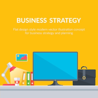 Business strategy background