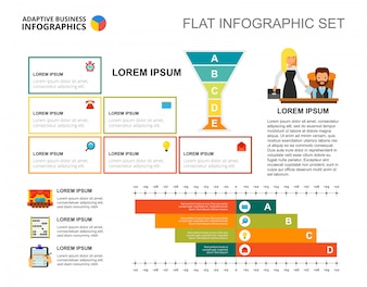 Business strategy bar chart template for presentation