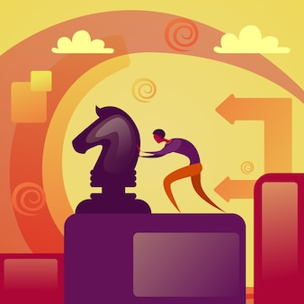 사업 전략 개념 사업 추진 체스 그림 회사 개발 계획