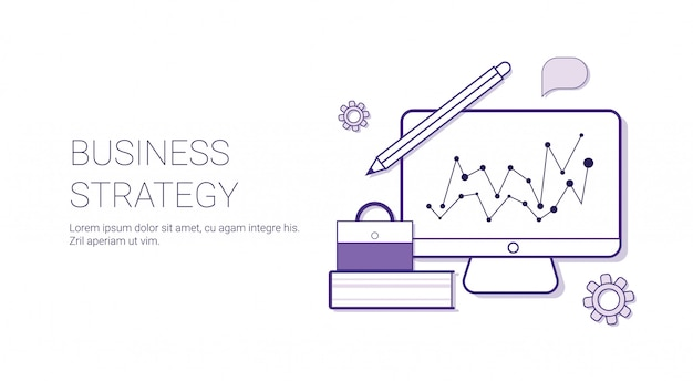 Business strategy concept corporate planning banner