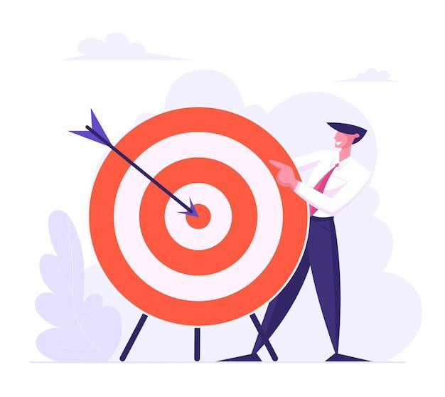 비즈니스 전략 개념 평면 그림