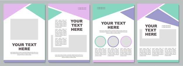 Business strategy creative brochure template