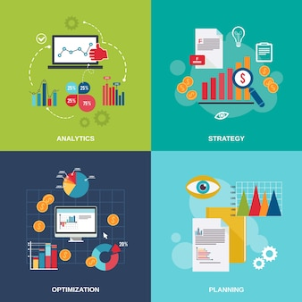 Business strategy design Free Vector