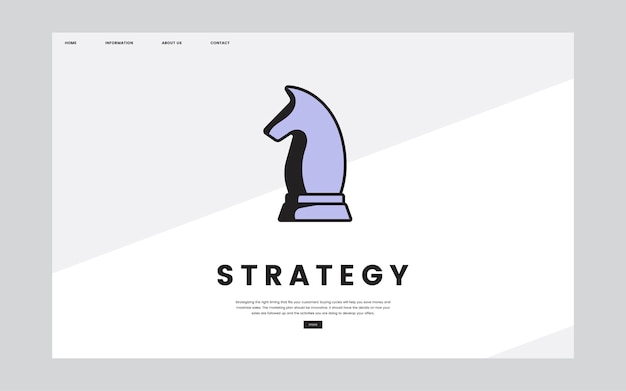 Business strategy informational website graphic