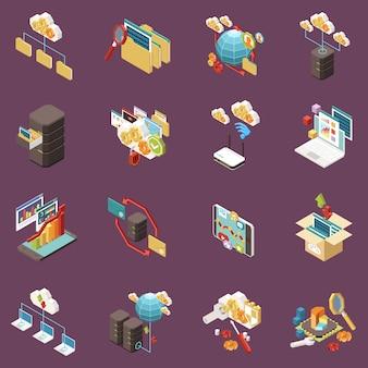 Бизнес-стратегия изометрические блок-схемы с концепцией расчета прибыли успех исследований роста идеи портфеля документов и других описаний иллюстрации