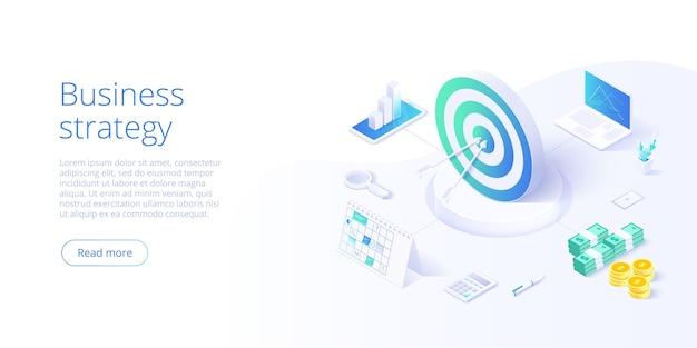 Business strategy isometric illustration