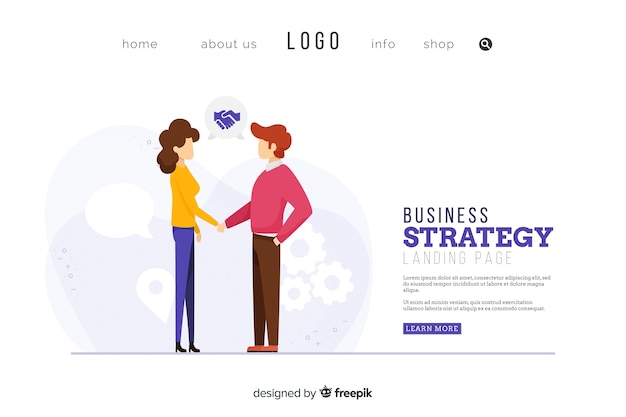 Business strategy landing page design