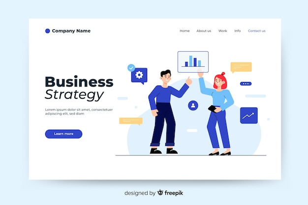 Business strategy landing page template