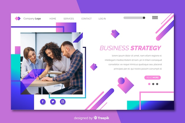 Business strategy landing page
