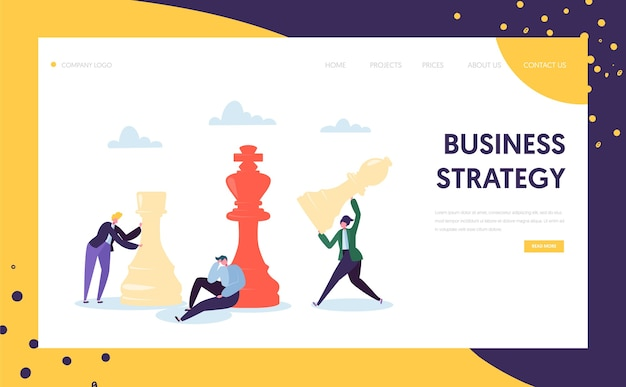 Business strategy plan thinking landing page