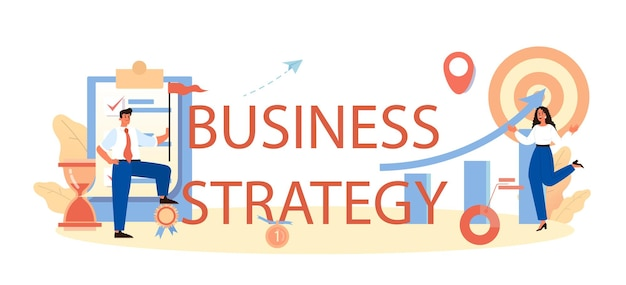 Business strategy typographic header