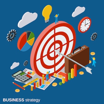 Business strategy vector concept illustration