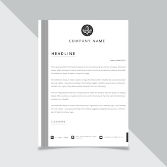 Business style letter head templates for your project , illustration.
