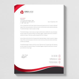 Business style letterhead design.