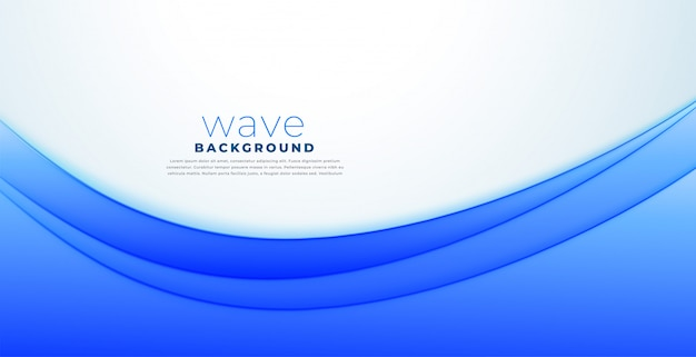 Business style presentation blue wave background