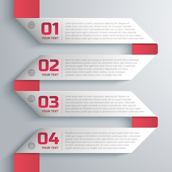Business style ribbon template with text and number fields step by step
