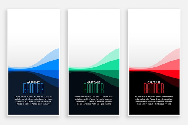 Business style web vertical banners with text space