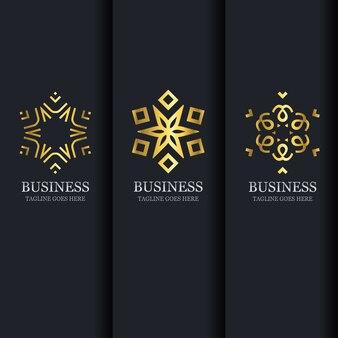 Business stylish icons set