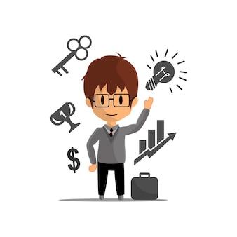 ビジネス成功実績イラストキャラクターデザイン