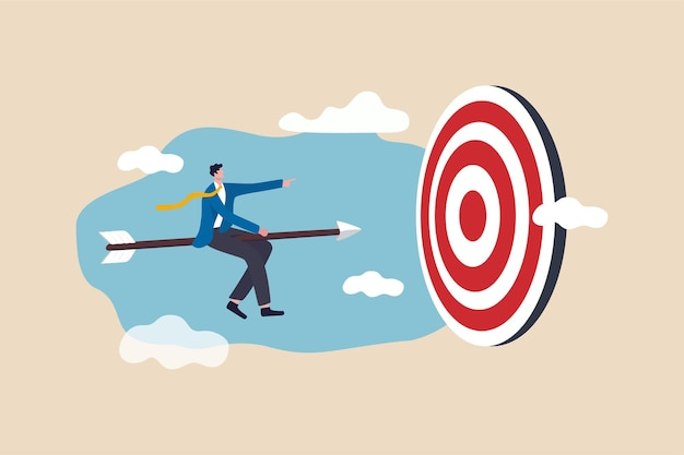 Достижение успеха в бизнесе, лидерство, чтобы выжить и выиграть бизнес-стратегию или постановку цели