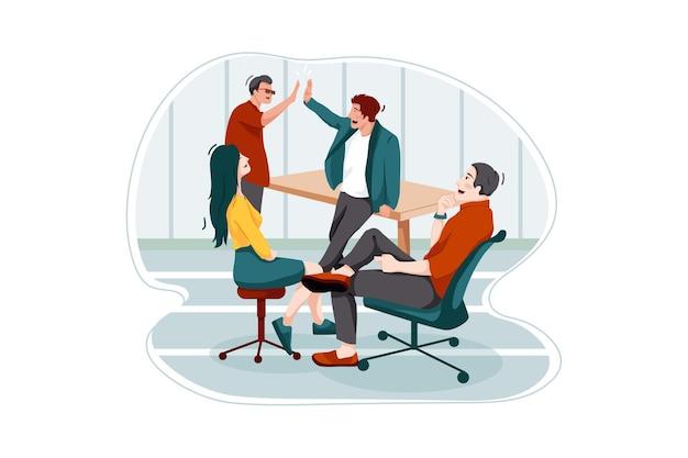 Концепция иллюстрации успеха бизнеса