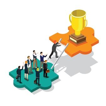 Business success isometric
