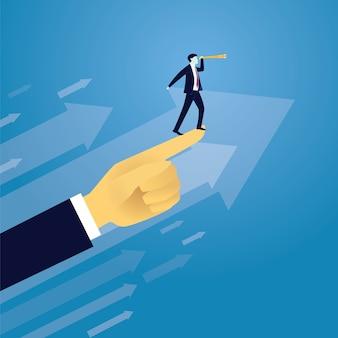 비즈니스 성공 전진 개념