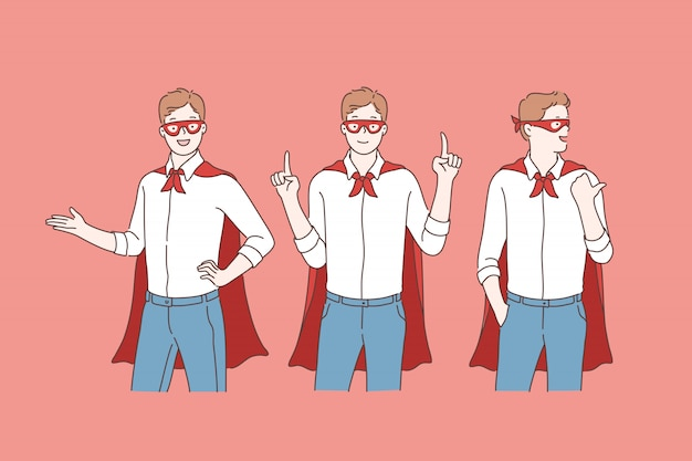 Business super hero or promotion.
