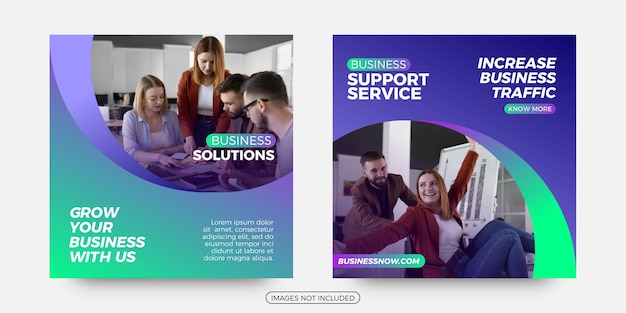 Business support social media post templates