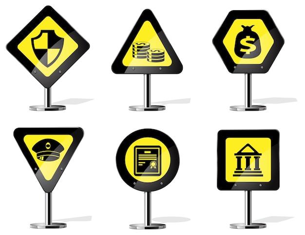 道路標識アイコンのビジネスシンボル