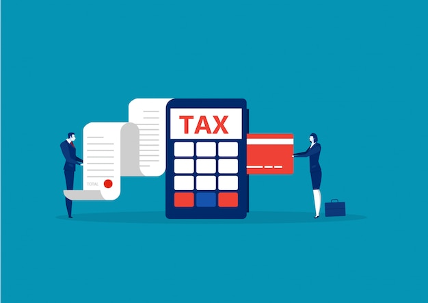 Business take credit card for pay tax