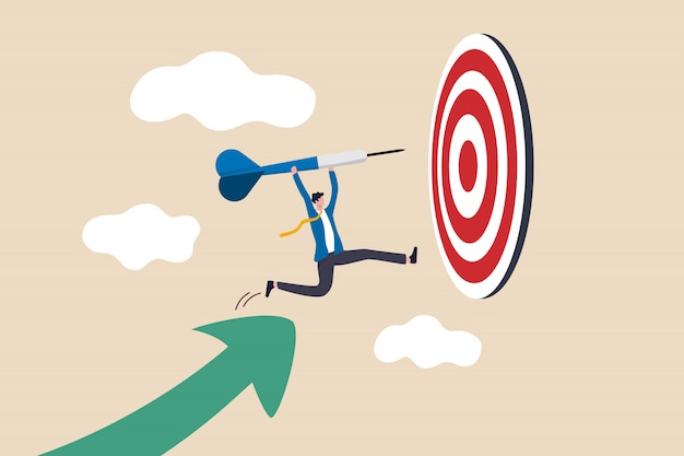 Business target achievement illustration