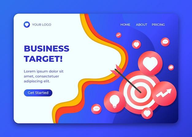 Business target concept illustration template