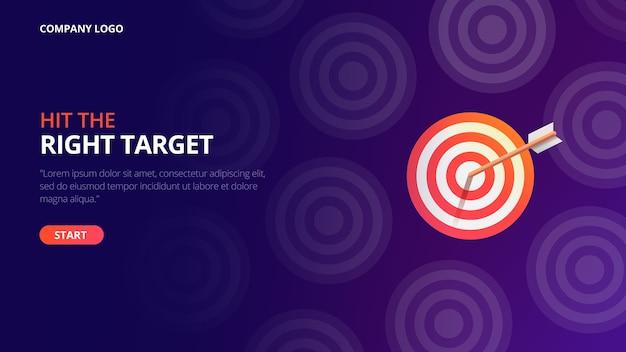 Business target landing page