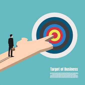 Business target market concept