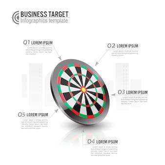 Business target marketing archery target infographics template.