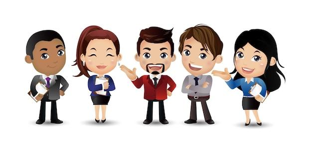 Деловая команда группа офисных работников