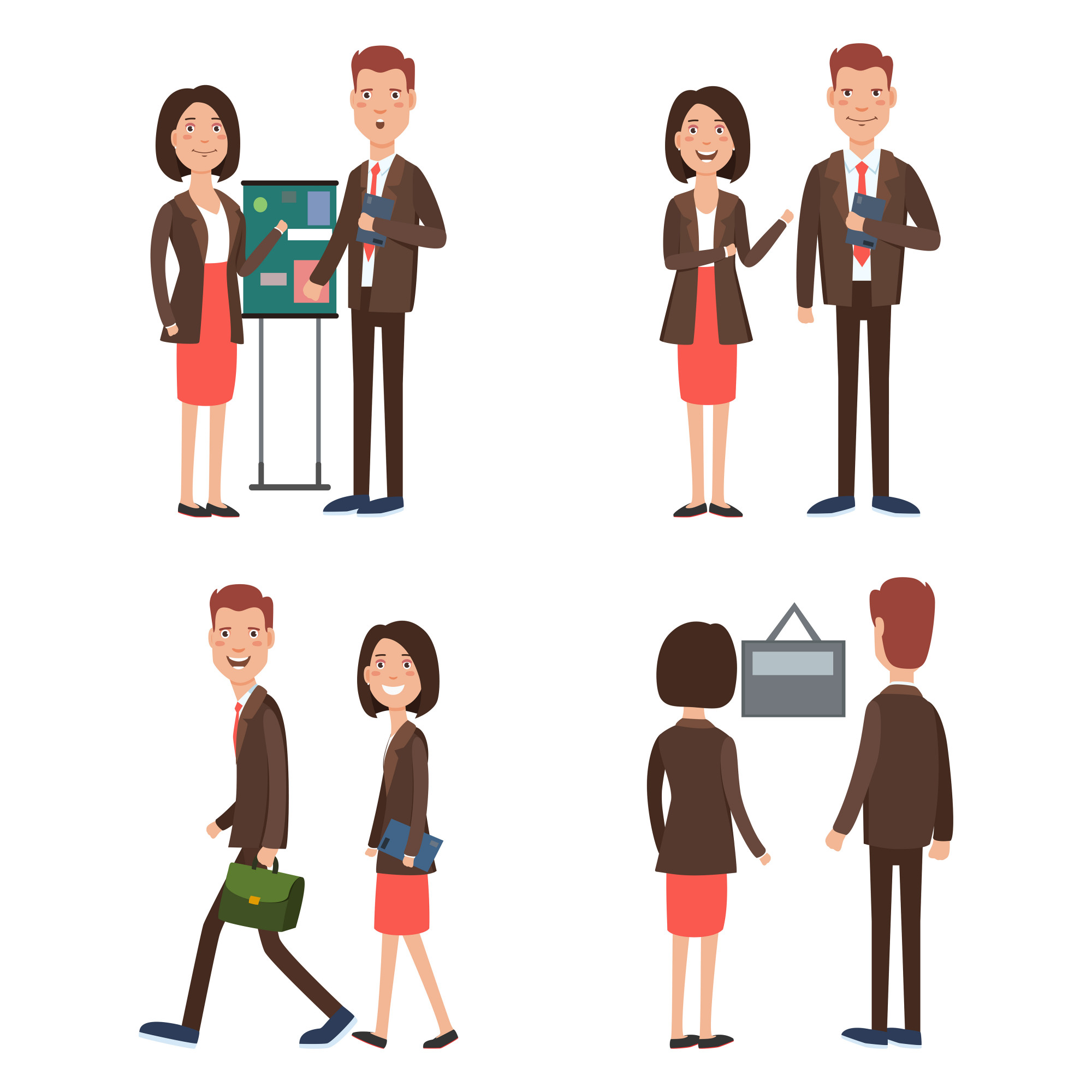 Business team at work character set